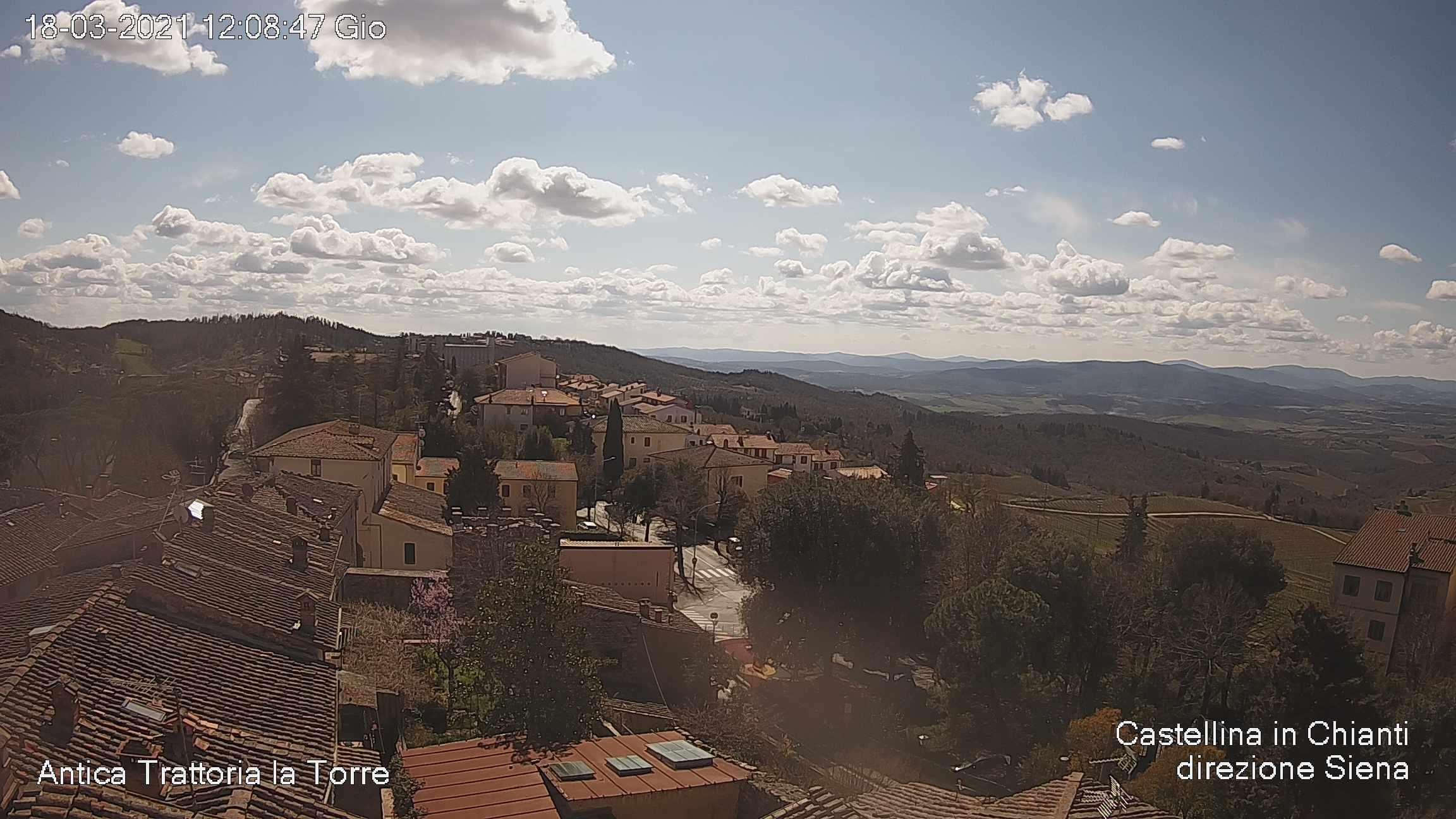Webcam di Castellina in Chianti  a cura di anticatrattorialatorre.com